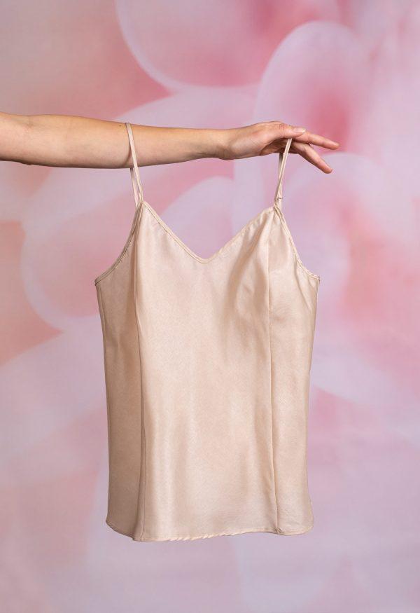 Luxus Satin Französisch Schlüpfer Unterhose Passend Cami Mieder Top Silky Style